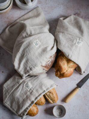 Lniane worki na pieczywo